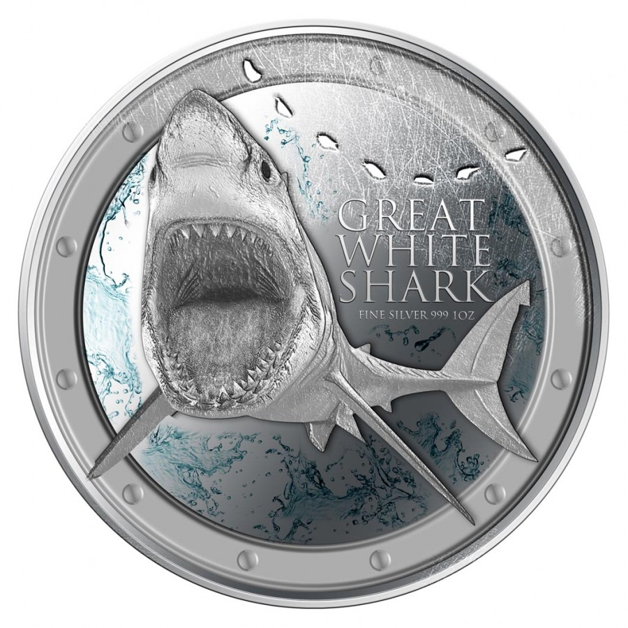 Silver Coin Great White Shark 2012 Niue 1oz