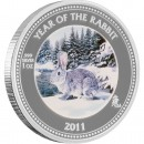 "Silver Coin SNOW PAW PRINT BOX 2011 ""2011 Lunar Year of the Rabbit"" Series"