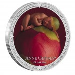 Silver Colored Coin ANNE GEDDES SET - GIRL 2012, Niue - 1 oz