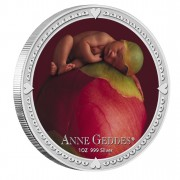 Серебряная цветная монета АННА ГЕДДЕС - ДЕВОЧКА 2012,Ниуе - 1 унция