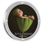 Серебряная цветная монета АННА ГЕДДЕС - МАЛЬЧИК 2012,Ниуе - 1 унция