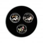 """WWII Nose Art"" Series Three Coin Set 2012, Niue - 1 oz"