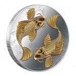 Silver Colored Coin FENG SHUI - KOI 2012, Niue - 1 oz