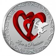 Silver Colored Coin LOVE IS PRECIOUS 2013, Niue - 1 oz