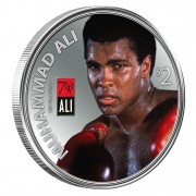 Silver Colored Coin MUHAMMAD ALI  2012, Fiji - 1 oz