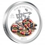 Серебряная цветная монета ГОД ЗМЕИ 2013,Ниуе - 1/2 унции