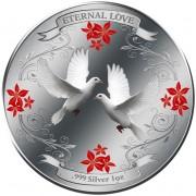 Серебряная монета ЛЮБОВЬ НАВСЕГДА 2011