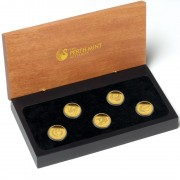 Gold Discover Australia 2011 Dreaming Five Coin Set - Tasmanian Devil 1/10oz