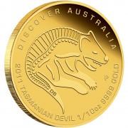Gold Coin Discover Australia 2011 Dreaming - Tasmanian Devil 1/10oz