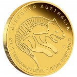 Gold Coin Discover Australia 2011 Dreaming - Tasmanian Devil 1/25oz