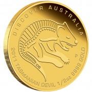Gold Coin Discover Australia 2011 Dreaming - Tasmanian Devil 1/2oz