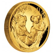 Australian Koala Gold Proof Coin High Relief 2011 - 1oz