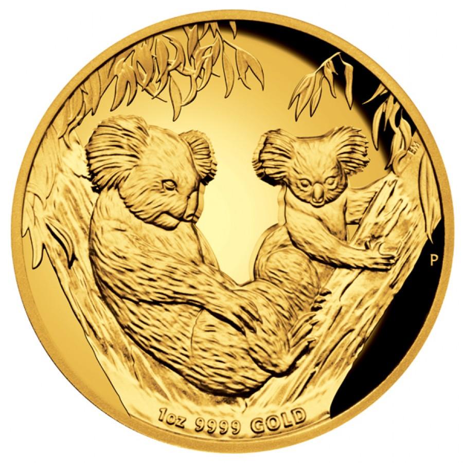 Australian Koala Gold Proof Coin High Relief 2011 1oz