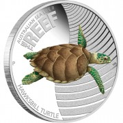 "Silver Coin THE REEF- HAWKBILL TURTLE 2011 ""Australian Sea Life"" Series"