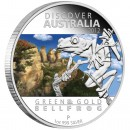 "Silver Coin GREEN AND GOLD BELL FROG ""Discover Australia 2012"" Series"
