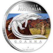 """Silver Coin GOANNA """"Discover Australia 2012"""" Series"""