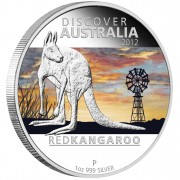 "Silver Coin RED KANGAROO ""Discover Australia 2012"" Series"