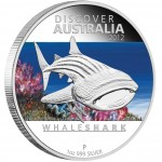 "Silver Coin WHALE SHARK ""Discover Australia 2012"" Series"