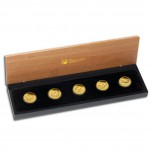 """Discover Australia 2012"" Series  Five Silver Coin Set  - 1/2 oz, Proof"