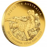 "Gold Coin GOANNA 2012 ""Discover Australia 2012"" Series - 1/25 oz, Proof"