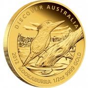 "Gold Coin KOOKABURRA 2012 ""Discover Australia 2012"" Series - 1/2 oz, Proof"