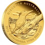 "Gold Coin KOOKABURRA 2012 ""Discover Australia 2012"" Series - 1/10 oz, Proof"