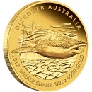 "Gold Coin WHALE SHARK 2012 ""Discover Australia 2012"" Series - 1/2 oz, Proof"