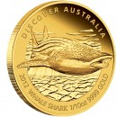 "Gold Coin WHALE SHARK 2012 ""Discover Australia 2012"" Series - 1/10 oz, Proof"