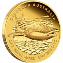 "Gold Coin WHALE SHARK 2012 ""Discover Australia 2012"" Series - 1/25 oz, Proof"