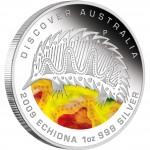 "Silver Coin ECHIDNA ""Discover Australia 2009 Dreaming"" Series"