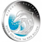 "Silver Coin DOLPHIN ""Discover Australia 2009 Dreaming"" Series"