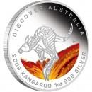 "Silver Coin KANGAROO ""Discover Australia 2009 Dreaming"" Series"