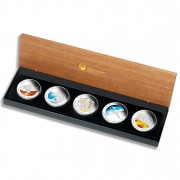 """""""Discover Australia 2009 Dreaming"""" Series  Five Silver Coin Set"""