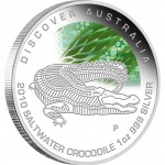 """Silver Coin SALTWATER CROCODILE """"Discover Australia 2010 Dreaming"""" Series"""