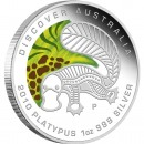 "Silver Coin PLATYPUS ""Discover Australia 2010 Dreaming"" Series"