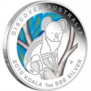 """Silver Coin KOALA """"Discover Australia 2010 Dreaming"""" Series"""
