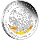 "Silver Coin FRILLED NECK LIZARD ""Discover Australia 2010 Dreaming"" Series"