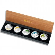 """""""Discover Australia 2010 Dreaming"""" Series  Five Silver Coin Set"""
