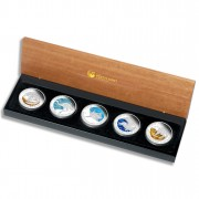 """""""Discover Australia 2011 Dreaming"""" Series  Five Silver Coin Set"""