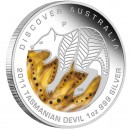 "Silver Coin TASMANIAN DEVIL ""Discover Australia 2011 Dreaming"" Series"