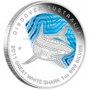 "Silver Coin GREAT WHITE SHARK ""Discover Australia 2011 Dreaming"" Series"