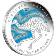 "Silver Coin EMU ""Discover Australia 2011 Dreaming"" Series"