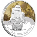 "Silver Coin 1805 BATTLE OF TARAFALGAR 2010 ""Famous Naval Battles"" Series"