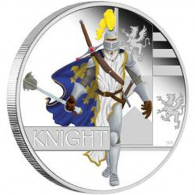 "Silver Coin KNIGHT 2010 ""Great Warriors"" Series"