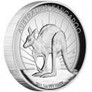 Silver High Relief Coin AUSTRALIAN KANGAROO 2011