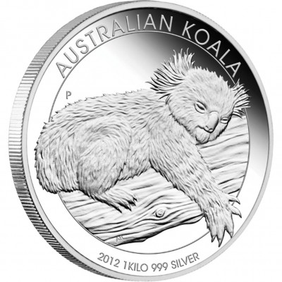 Silver Bullion Coin AUSTRALIAN KOALA 2012 - 1 kg, Proof