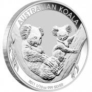 Silver Bullion Coin  AUSTRALIAN KOALA  2011 - 1 oz