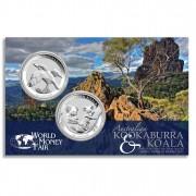 KOALA AND KOOKABURRA  2011 Two Silver Coin Set - 1 oz