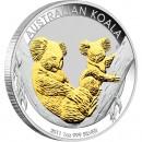 Silver Gilded Edition Coin AUSTRALIAN KOALA 2011