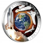 Silver Orbital Coin 1981 FIRST SPACE SHUTTLE 2010
